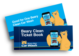 Beary clean ticket book