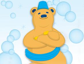 Club bear blue