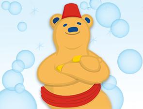 Club bear red