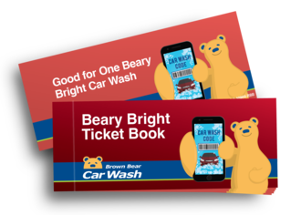 Beary bright ticket book