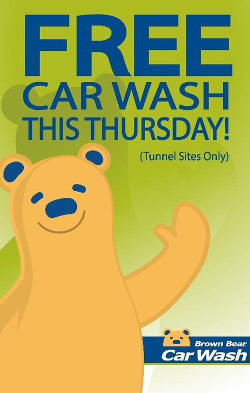 Free Car Wash This Thursday