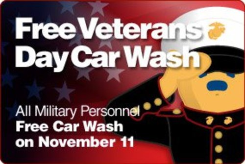 Veterans Day Free Car Wash
